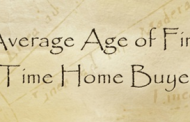 Average Age of First Time Home Buyer