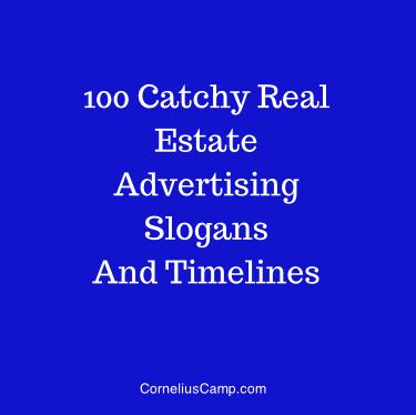 100 catchy real estate advertising slogans and timeless cornelius camp reheart Choice Image